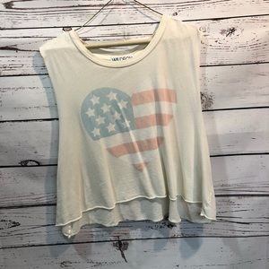 WILDFOX Cropped Tank  Sunbleached Heart.